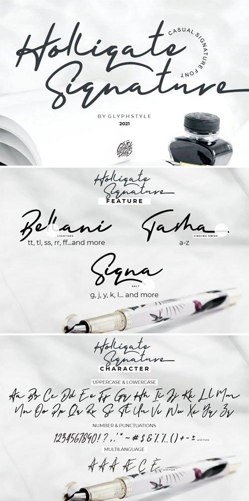 Holligate - Casual Signature Font