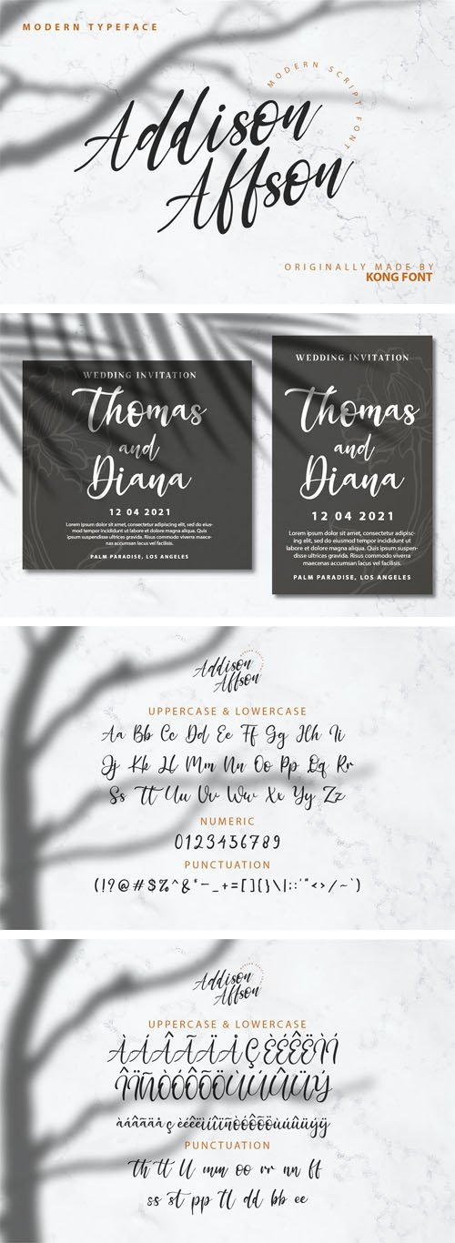 Addison Affson - Modern Script Font [2-Weights]