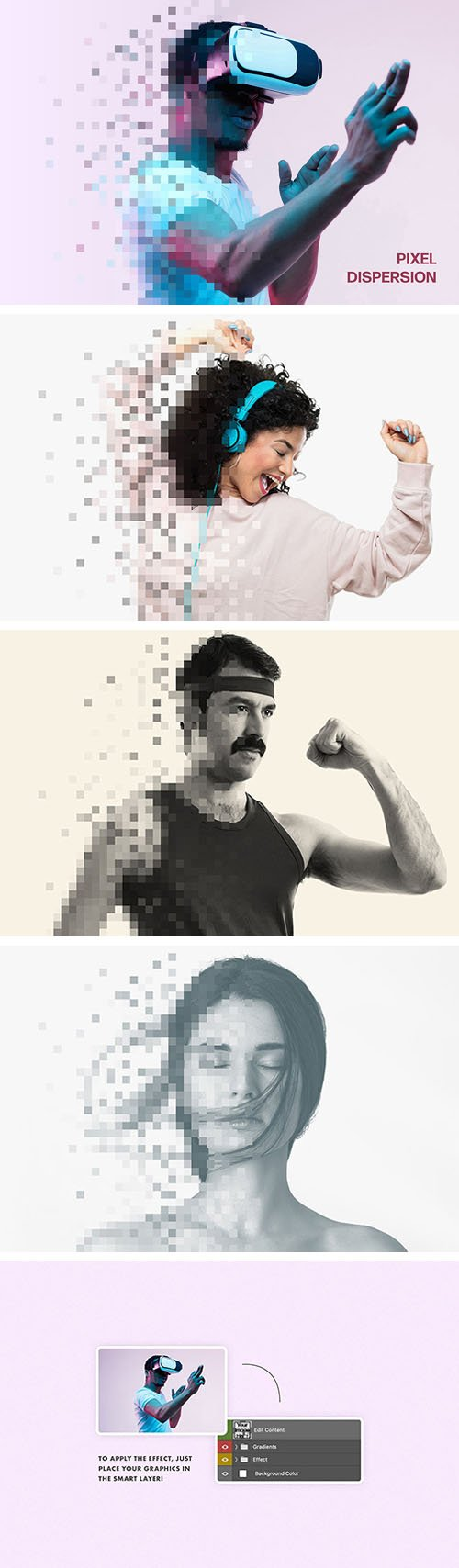 Pixel Dispersion Photo Effect PSD Template