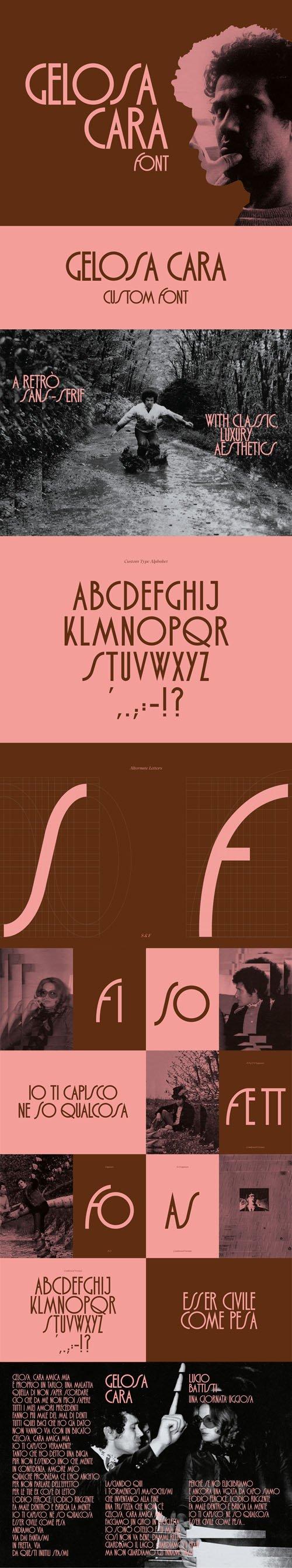 Gelosa Cara - Retro Sans Serif Font [2-Weights]