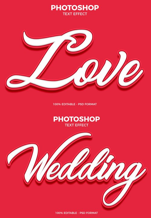 Love Text Effect for Photoshop
