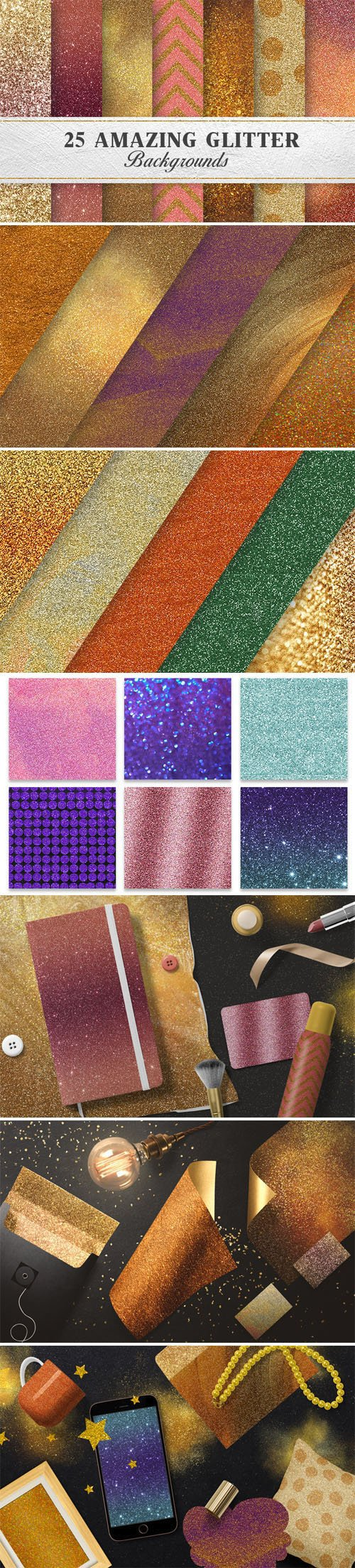 25 Amazing Glitter Backgrounds Collection