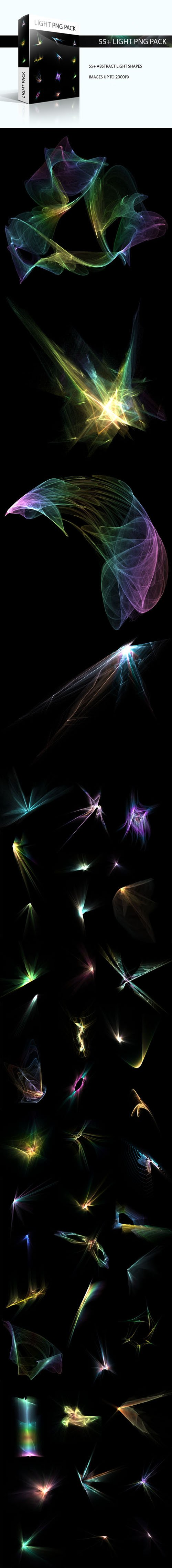 50+ Abstract Light Shapes PNG Pack