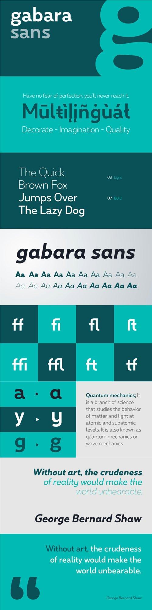 Gabara Sans - Dynamic Sans Serif Font Family [4-Weights]