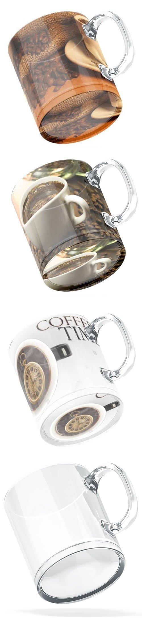 Glass Mug PSD Mockup Template