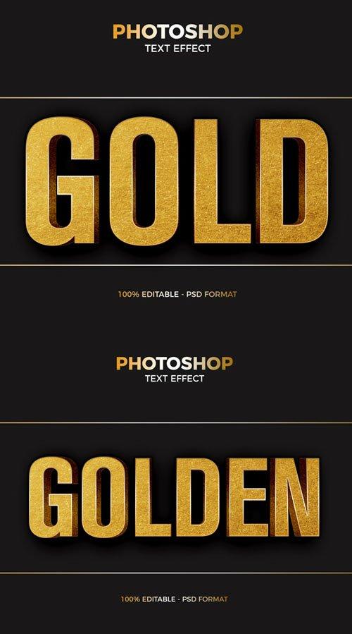 Gold Foil Photoshop PSD Text Effect
