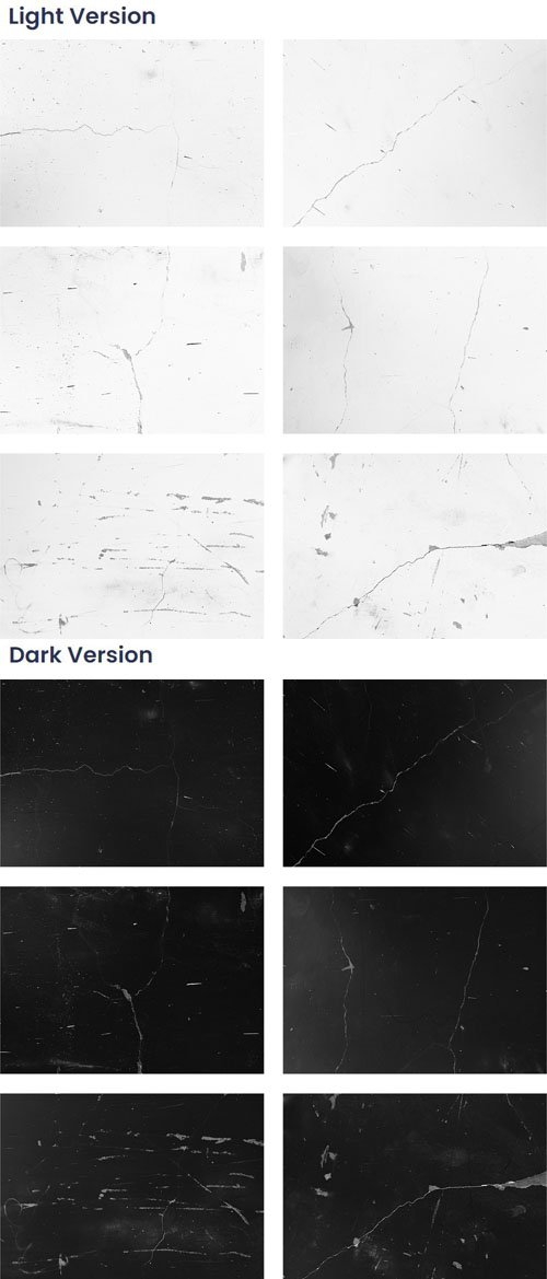 12 Crack Overlay Textures Collection