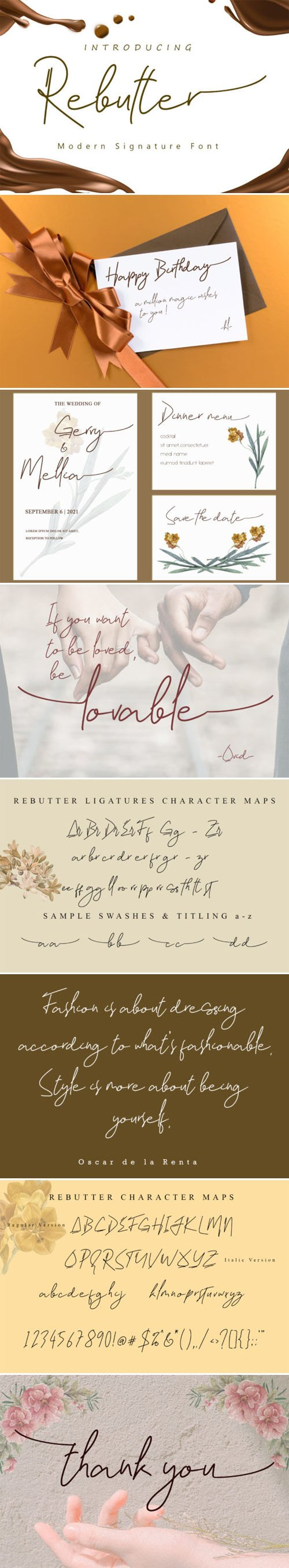Rebutter - Fashionable Signature Font [2-Weights]