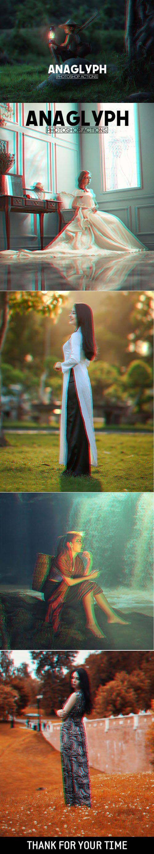 3D Anaglyph Effect - Photoshop Actions