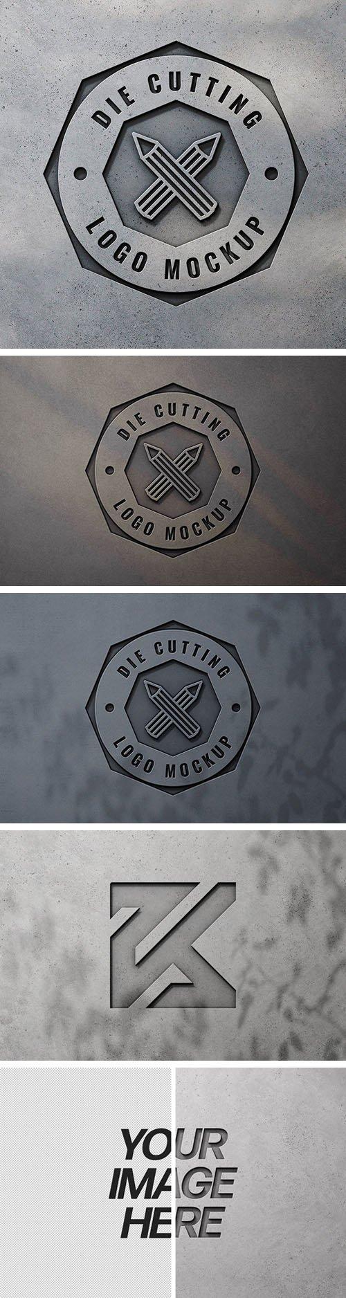 Industrial Logo PSD Mockup