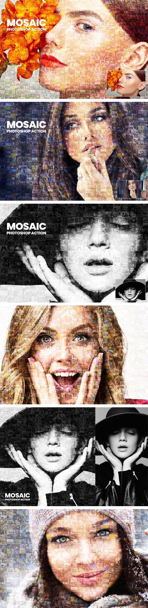 Mosaic Photoshop Actions
