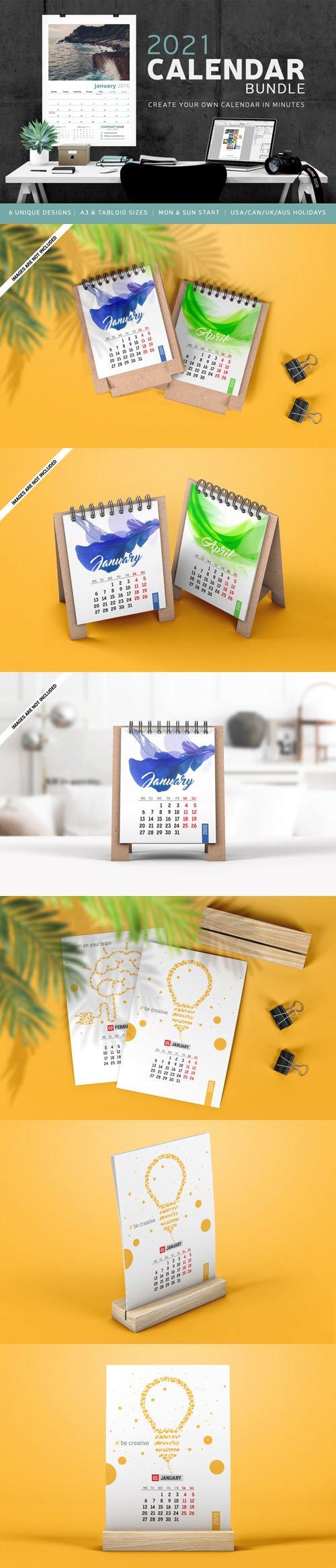 2021 Calendar Bundle - Professional Calendar Grids & Calendars for 2021