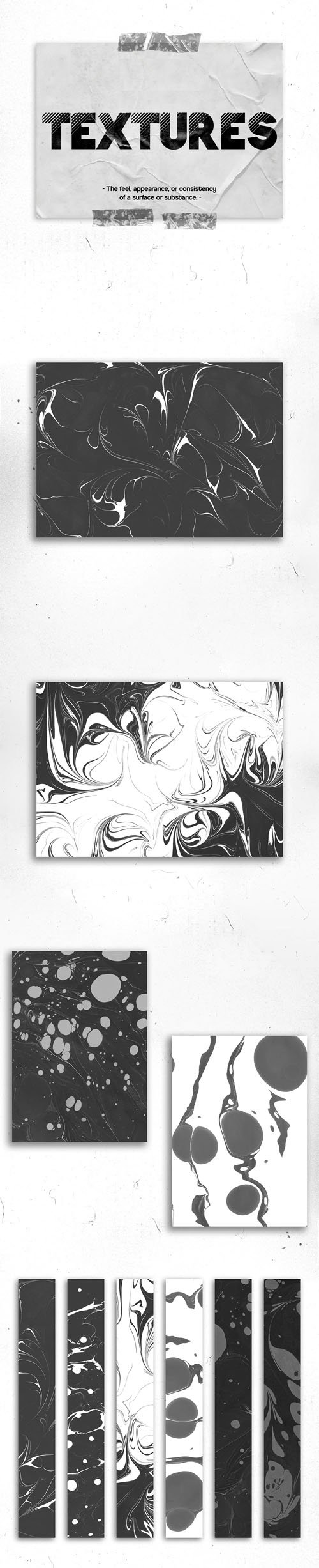 Abstract Black & White Textures Pack