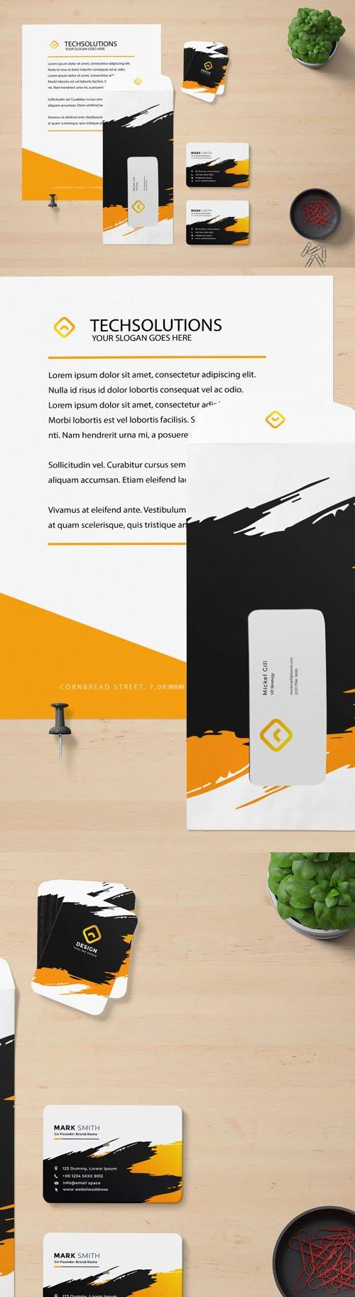 Letter Head Branding PSD Mockups