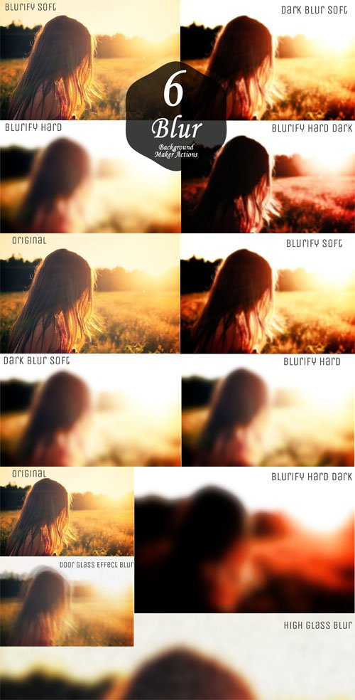 6 Blur Background Maker Photoshop Actions