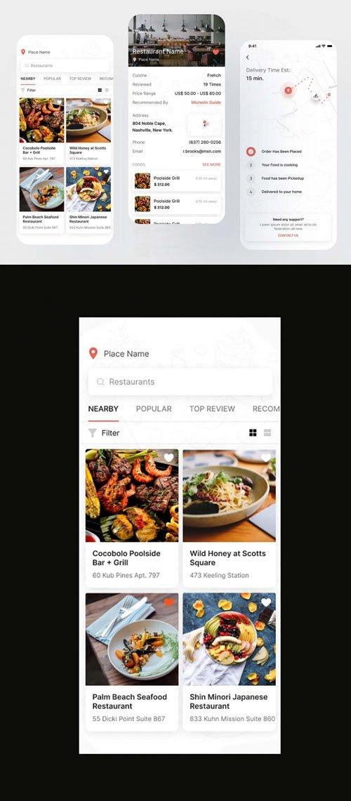 Restaurant App Template for Figma