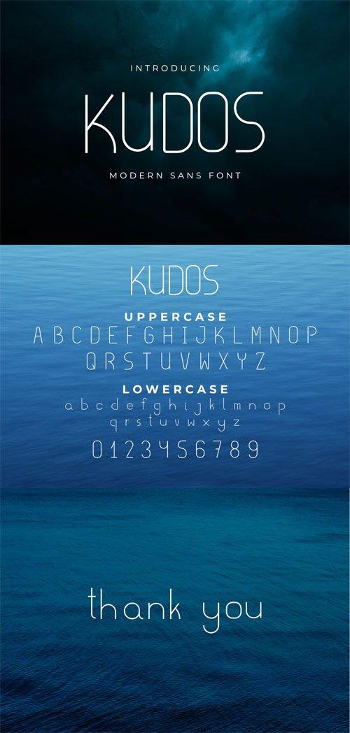 Kudos Fine - Modern Sans Serif Font