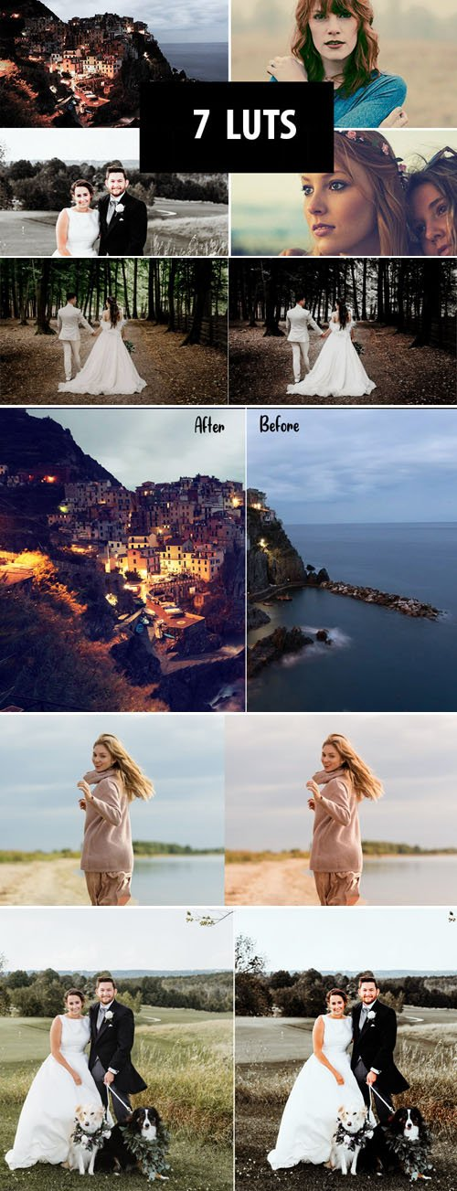 Coloring LUTs Pack - 7 Effects