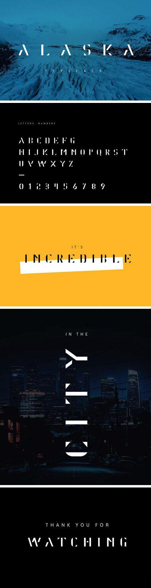 Alaska Stylized Abstract Typeface