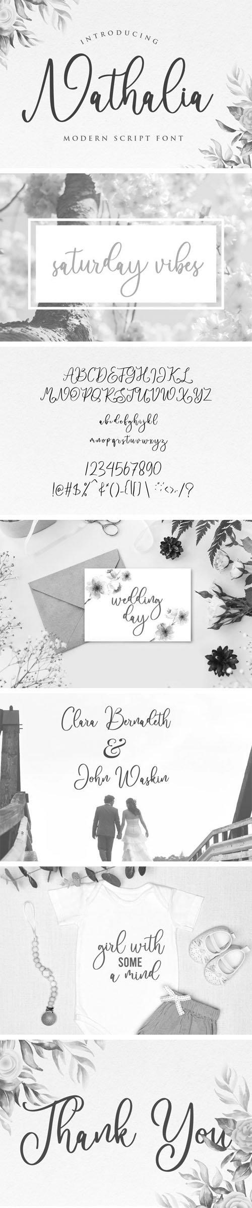 Nathalia - Modern Handwritten Font