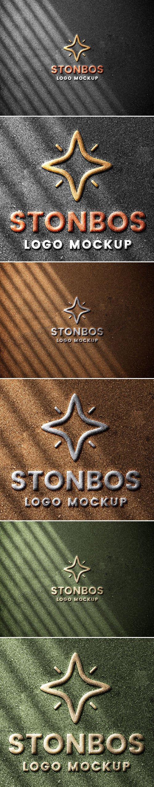 Stonebos Logo PSD Mockup