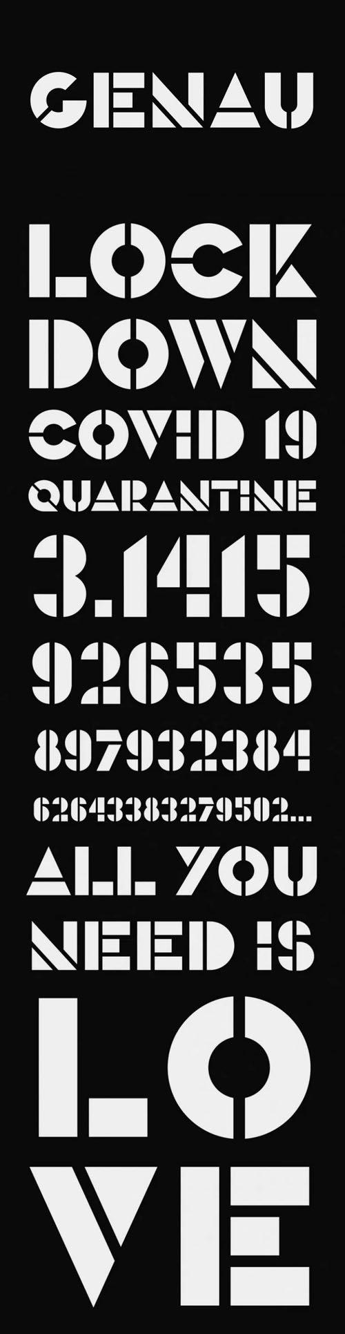 Genau - Geometric Display Font