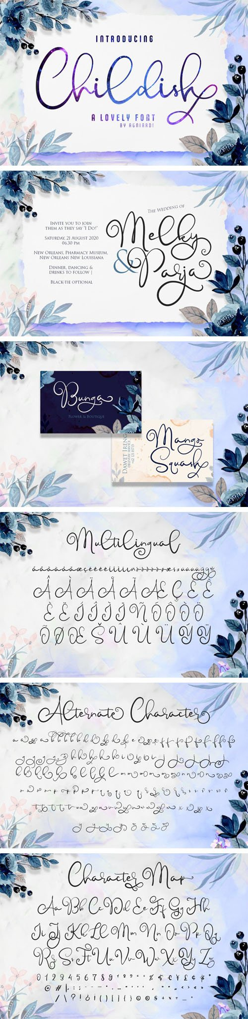 Childish - A Lovely Calligraphy Font