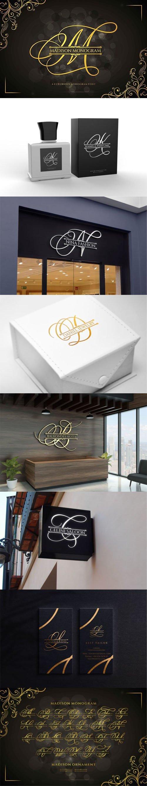 Madison Monogram - Calligraphy Display Font [2-Weights]