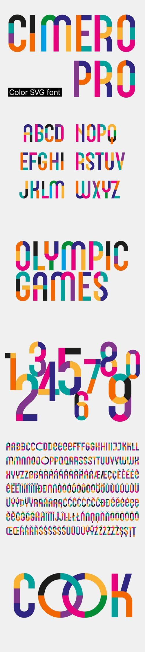 Cimero Pro - Color SVG Font