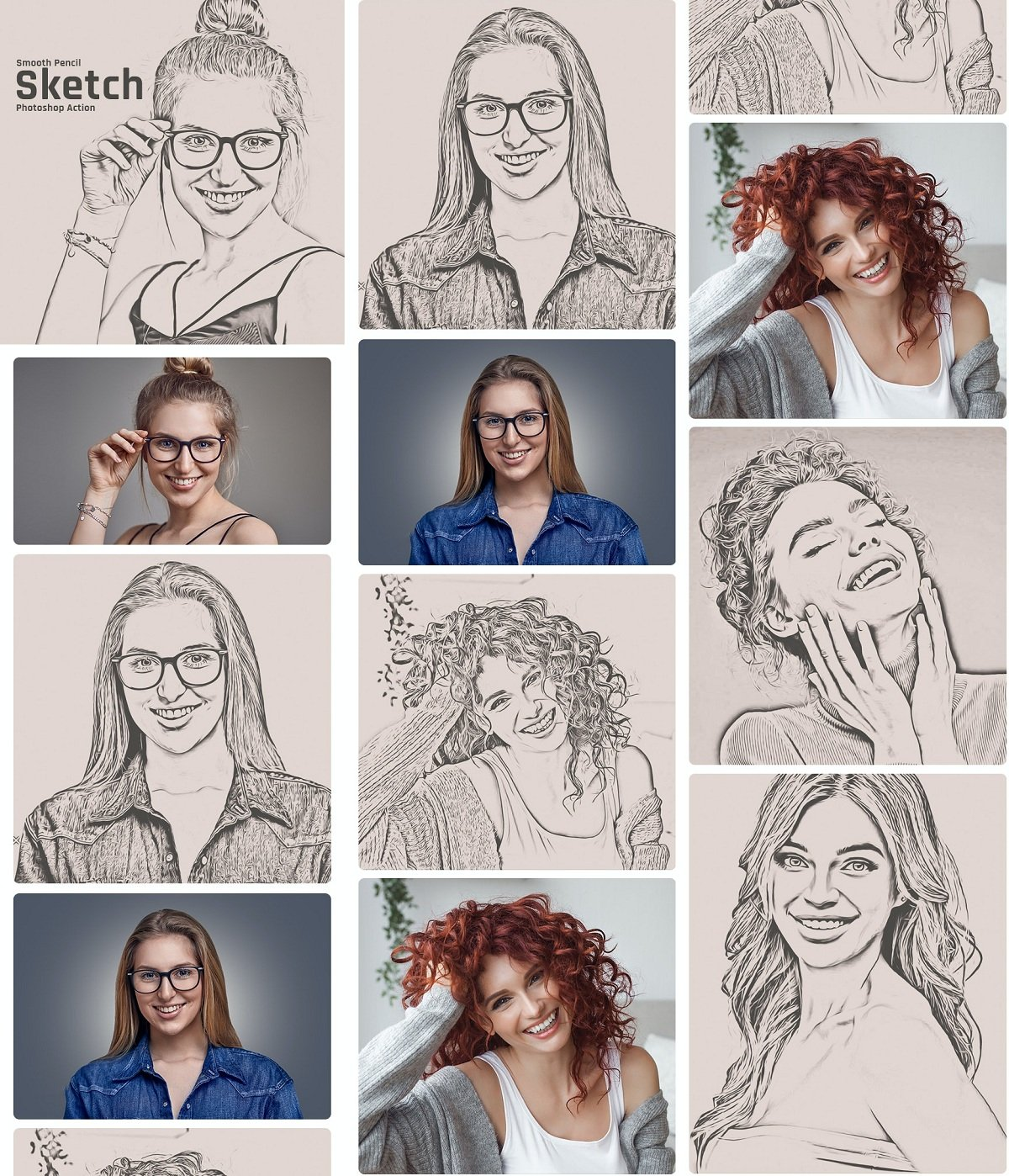 Download GraphicRiver - Pencil Sketch Photoshop Action