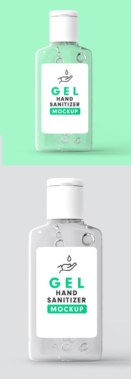 Gel Hand Sanitizer Bottle PSD Mockup