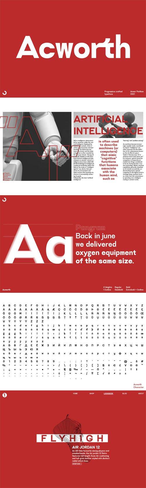 Acworth - Sans Serif Font