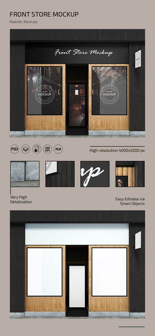 Front Store PSD Mockup Template