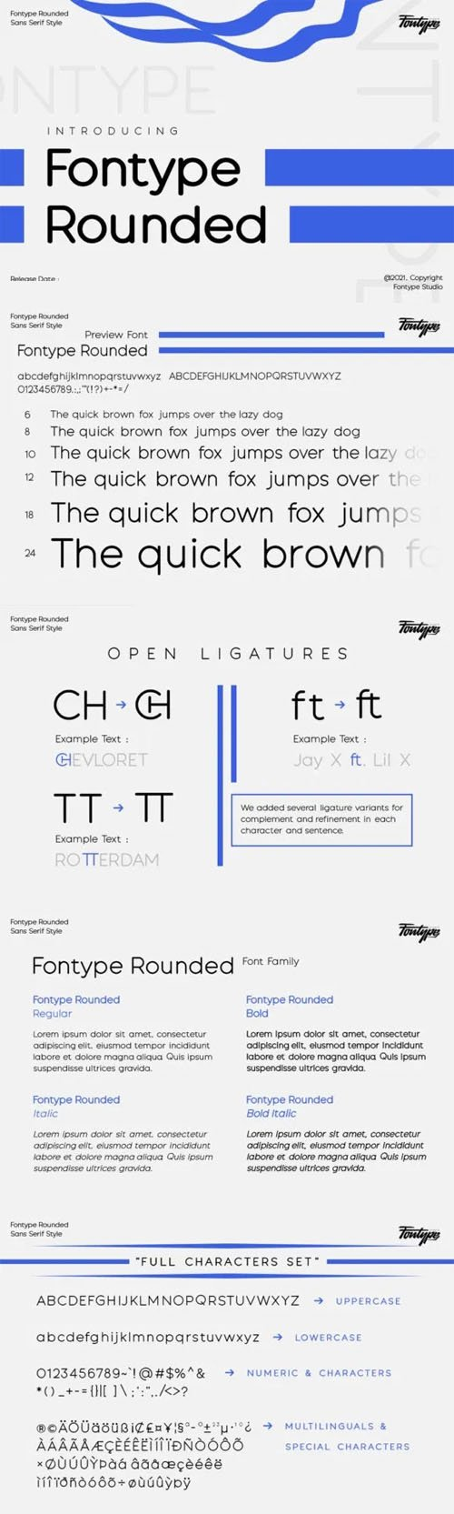 Fontype Rounded Sans Serif Font Family [4-Weights]