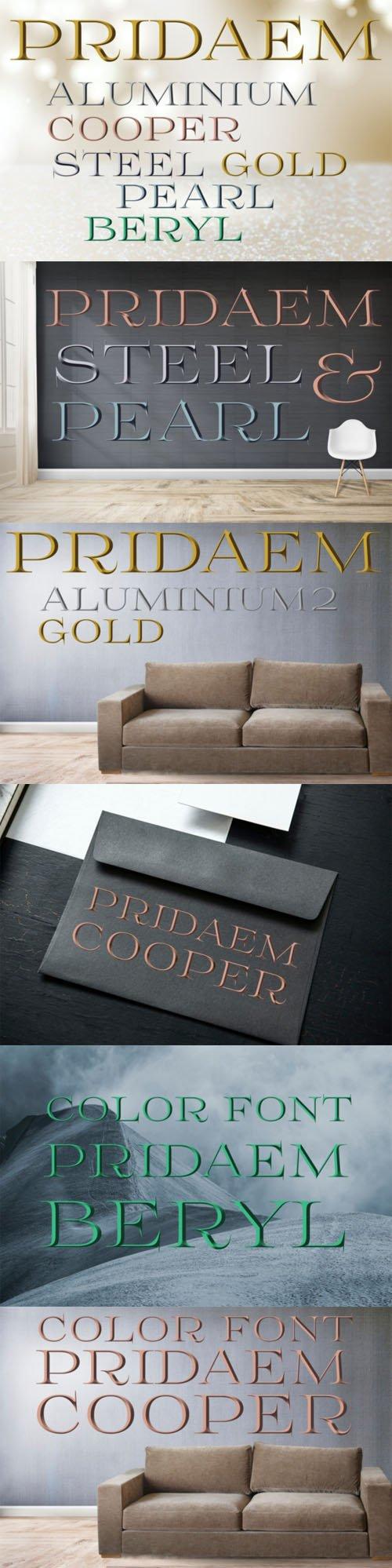 PridaEm - Elegant Color Font [7-Weights]