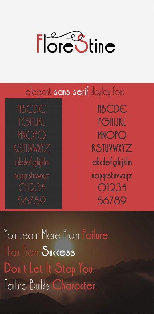 Florestine - Elegant Sans Serif Display Font [4-Weights]