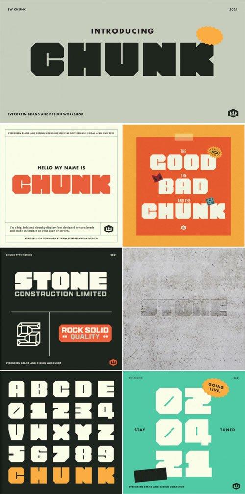 Chunk - Bold Display Font