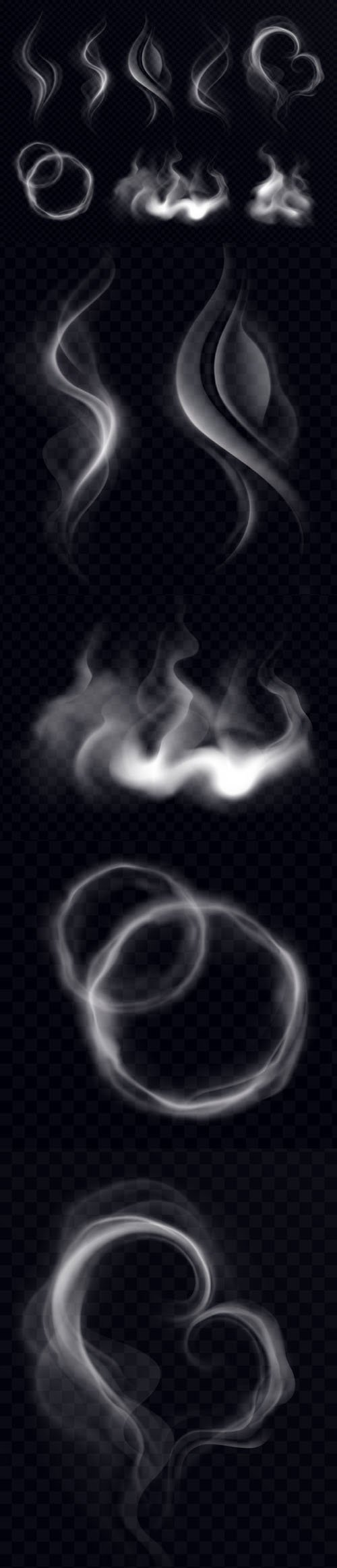 Realistic Smoke Vector Shapes
