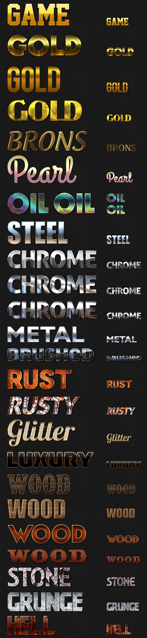 33x HQ Mixed Text Styles Pack