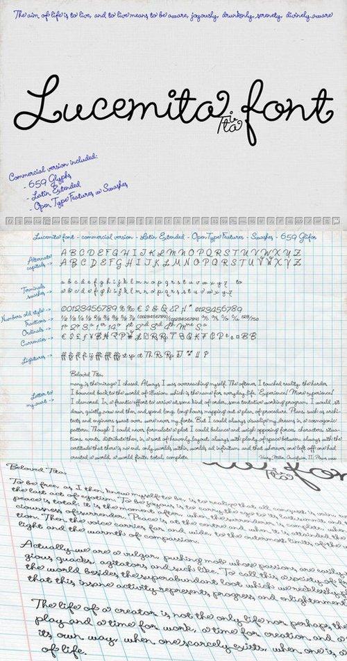 Lucemita - Handwritten Calligraphic Typeface
