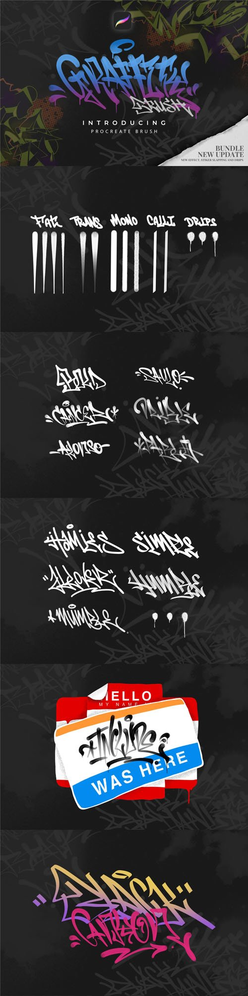 Graffiti Brush Pack for Procreate
