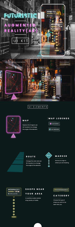 Futuristic Augmented Reality UI Kit For Adobe XD