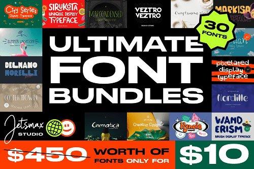 Ultimate Font Bundles - 30 Premium Fonts