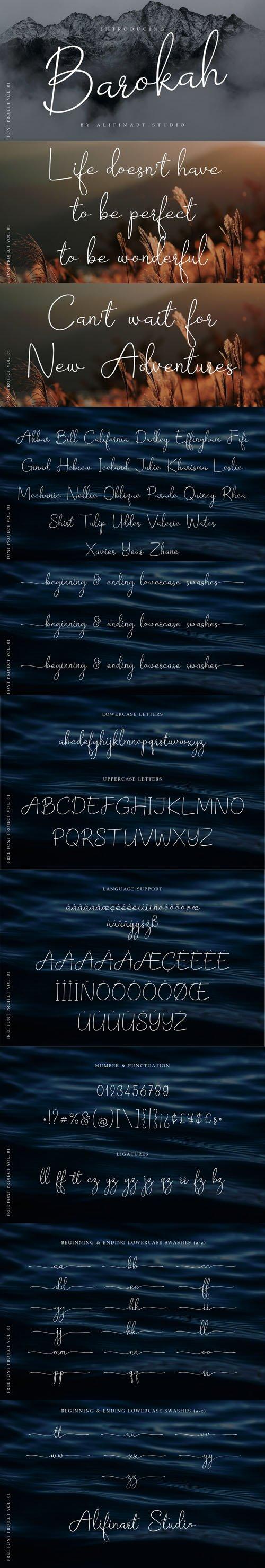 Barokah Signature Script Font