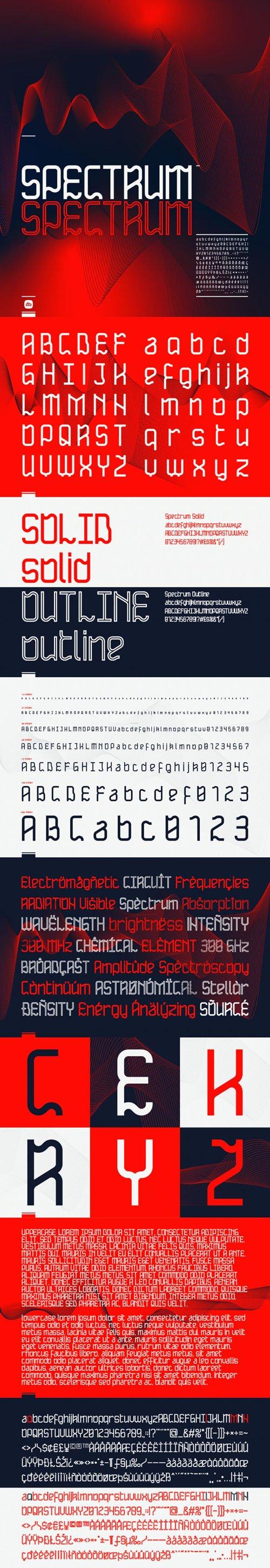 Spectrum Display Font [2-Weights]