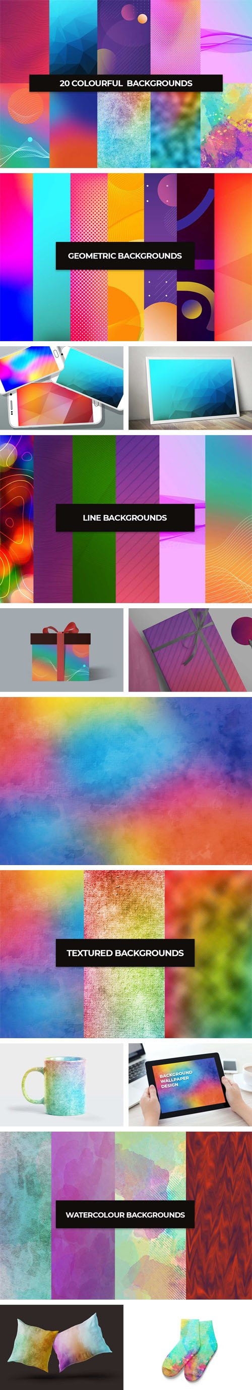 20 Colourful Backgrounds Collection