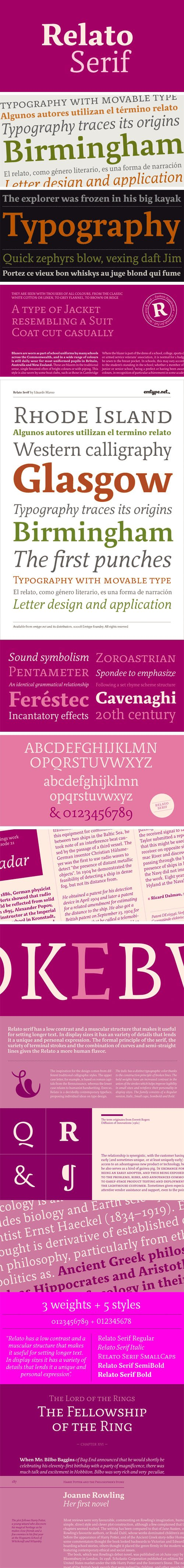 Relato Serif Font Family [5-Weights]