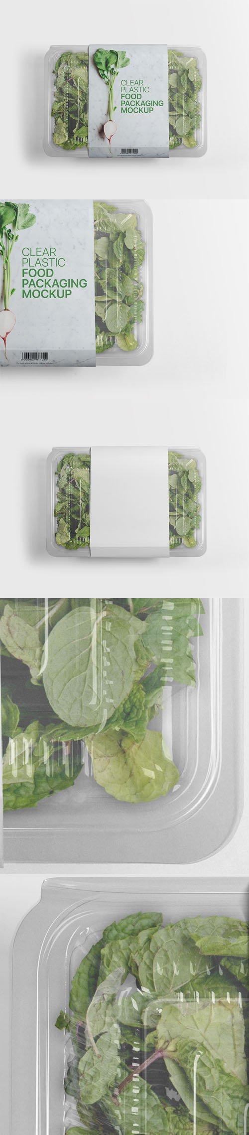 Plastic Food Packaging PSD Mockup Template