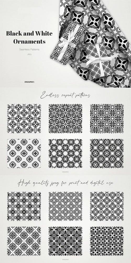 Black & White Ornament Seamless Patterns