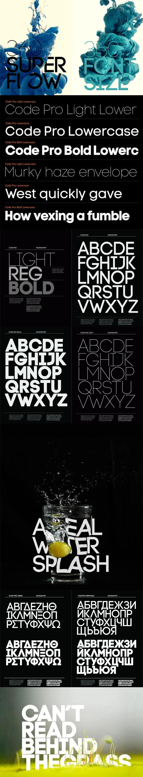 Code Pro Sans Serif Font Family [10-Weights]
